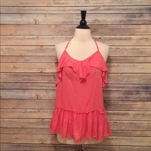 Free People Pink Flowy Tank Top
